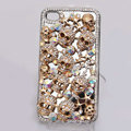 Alloy Skull Bling Crystal Case Rhinestone Cover for iPhone 4G 4S - Silver