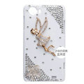 Angel Bling Crystal Case Rhinestone Cover shell for OPPO finder X907 - Gold