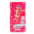 Angel gril Bling Crystal Case Rhinestone Cover shell for OPPO U705T Ulike2 - Rose