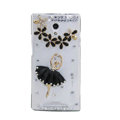 Ballet girl Bling Crystal Case Rhinestone Cover shell for OPPO U705T Ulike2 - Black