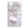 Ballet girl Bling Crystal Case Rhinestone Cover shell for OPPO finder X907 - Pink
