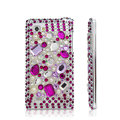 Bling Crystal Case Rhinestone Cover for LG P880 Optimus 4X HD - Purple