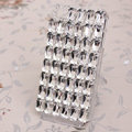 Bling Crystal Case Rhinestone Cover for iPhone 4G 4S - White