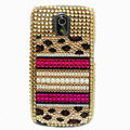 Bling Leopard Crystal Case Rhinestone Cover for Samsung i9250 GALAXY Nexus Prime i515 - Brown