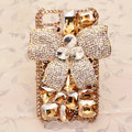 Bowknot Bling Crystal Case Rhinestone Cover shell for iPhone 5 - Champagne