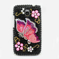 Butterfly Bling Crystal Case Rhinestone Cover for Samsung i9250 GALAXY Nexus Prime i515 - Black