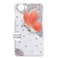Butterfly Bling Crystal Case Rhinestone Cover shell for OPPO finder X907 - Orange