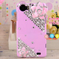 Camellia flower Bling Crystal Case Rhinestone Cover shell for OPPO finder X907 - Pink