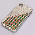 Claw chain Bling Crystal Case Rhinestone Cover shell for iPhone 4G 4S - Red Green