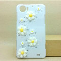 Daisy Bling Crystal Case Rhinestone Cover shell for OPPO finder X907 - White