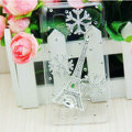 Eiffel Tower Bling Crystal Case Rhinestone Cover shell for LG P880 Optimus 4X HD - White