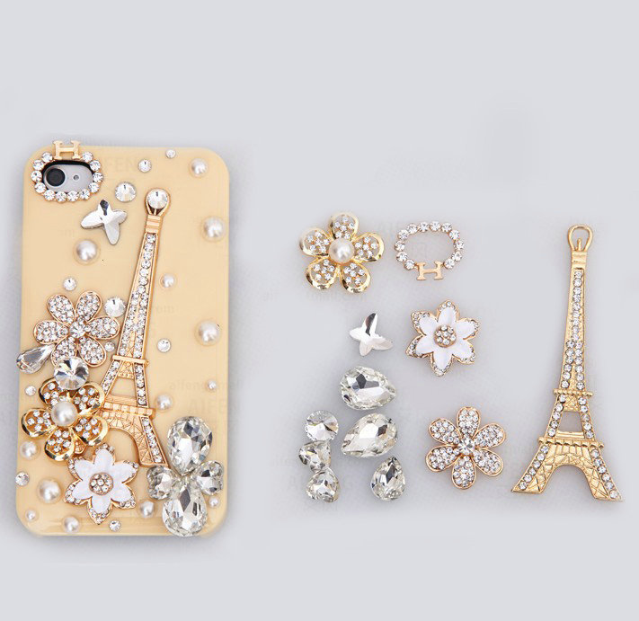 Case Design wholesale cell phone case : Buy Wholesale Eiffel Tower Bling Crystal Flower DIY Cell Phone Case ...