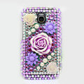 Flower 3D Bling Crystal Case Rhinestone Cover for Samsung i9250 GALAXY Nexus Prime i515 - Purple