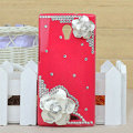 Flower Bling Crystal Case Rhinestone Cover shell for OPPO U705T Ulike2 - Rose