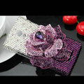 Flower Luxury Bling Crystal Case Rhinestone shell Cover for OPPO U705T Ulike2 - Purple