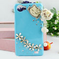 Heart Tassels Bling Crystal Case Rhinestone Cover shell for OPPO finder X907 - Blue