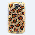 Leopard Bling Crystal Case Rhinestone Cover for Samsung i9250 GALAXY Nexus Prime i515 - Brown