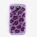 Leopard Bling Crystal Case Rhinestone Cover for Samsung i9250 GALAXY Nexus Prime i515 - Purple