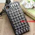 Skull Steeple Rivet Bling Crystal Metal DIY Cell Phone Case shell Cover Deco Den Kit