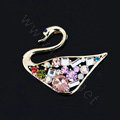Alloy Swan Crystal Metal DIY Phone Case Cover Deco Kit - Multicolor