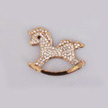 Horse Alloy Bling Metal Crystal DIY Phone Case Cover Deco Kit - Gold