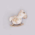 Horse Alloy Bling Metal Crystal DIY Phone Case Cover Deco Kit - White