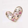 Lover Rhinestone Alloy Crystal Metal DIY Phone Case Cover Deco Kit - Pink