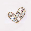 Lover Rhinestone Alloy Crystal Metal DIY Phone Case Cover Deco Kit - White