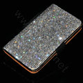 Luxury Bling Holster Cover Crystal Leather Case for Samsung N7100 GALAXY Note2 - Black