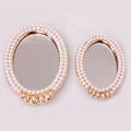 Make-up mirror Alloy Bling Crystal Metal DIY Phone Case Cover Deco Kit - White