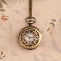 Retro Bird Pattern Bronze Pocket Watch Alloy DIY Phone Case Cover Deco Kit