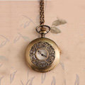 Retro Pattern Bronze Pocket Watch Alloy DIY Phone Case Cover Deco Kit