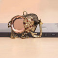 Retro elephant Crystal Alloy Metal DIY Phone Case Cover Deco Kit - Bronze