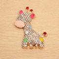 Sika deer Alloy Crystal Metal DIY Phone Case Cover Deco Kit - Multicolor