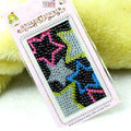 Black Star Crystal Bling Rhinestone mobile phone DIY Craft Jewelry Stickers