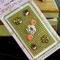 Brown 3D flower Crystal Bling Rhinestone mobile phone DIY Craft Jewelry Stickers
