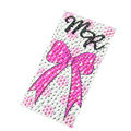 Pink Bowknot Crystal Bling Rhinestone mobile phone DIY Craft Jewelry Stickers
