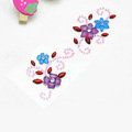 Purple Blue Flower Crystal Bling Rhinestone mobile phone DIY Craft Jewelry Stickers