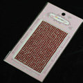 Red Crystal Diamond Bling Rhinestones mobile phone DIY Craft Jewelry Stickers
