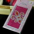 Rose Flower Crystal Bling Rhinestone mobile phone DIY Craft Jewelry Stickers