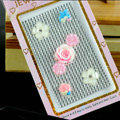 White 3D flower Crystal Bling Rhinestones mobile phone DIY Craft Jewelry Stickers