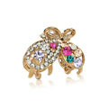 Hair Jewelry Crystal Rhinestone Butterfly Metal Hair Clip Claw Clamp - Multicolor