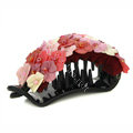 Hair Jewelry Fabric Flower Bead Rhinestone Hairpin Hair Claw Clip Clamp - Red