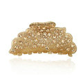 Hair Jewelry Floral Diamond Crystal Rhinestone Hair Clip Claw Clamp - Champagne