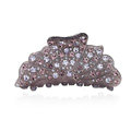 Hair Jewelry Floral Diamond Crystal Rhinestone Hair Clip Claw Clamp - Purple