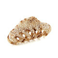Hair Jewelry Rhinestone Crystal Full Diamond Hair Clip Claw Clamp - Champagne