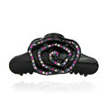 Hair Jewelry Ring Diamond Crystal Rhinestone Hair Clip Claw Clamp - Black