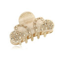 Hair Jewelry Sparkly Crown Crystal Rhinestone Hair Clip Claw Clamp - Champagne