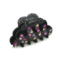 Hair Jewelry Sparkly Crystal Rhinestone Hair Clip Claw Clamp - Black