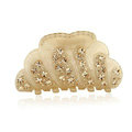 Hair Jewelry Sparkly Crystal Rhinestone Hair Clip Claw Clamp - Champagne